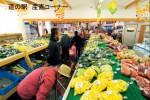 道の駅はしかみの産直コーナー(採れたての野菜を販売しています)