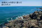 岩礁まじりの変化に富んだ釣りスポット、階上海岸
