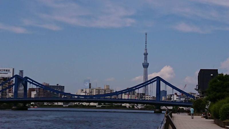 隅田川テラスの永代橋と清洲橋②