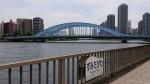 隅田川テラスの永代橋と清洲橋①